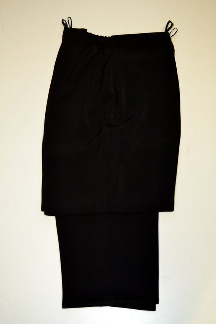 696cfc8a1e0 1555 dámské teplejší černé kalhoty do gumy